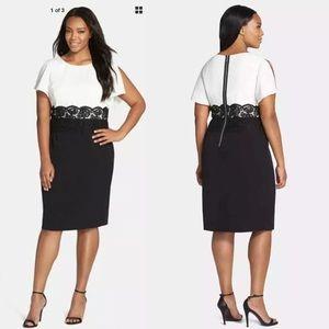 Adrianna Papell spliced dress